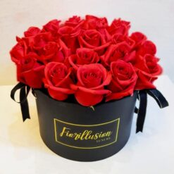 Flowerbox 25 rose rosse
