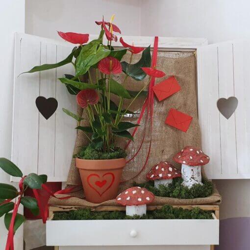 Madrid Anthurium rosso