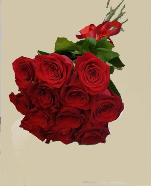Bouquet 12 rose rosse