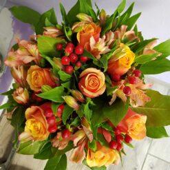 Istanbul bouquet rose arancio