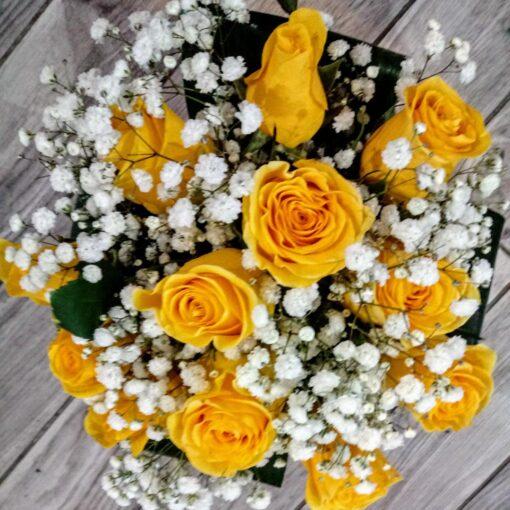 Miami bouquet rose gialle