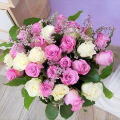 Tokyo bouquet rose bianche e rosa