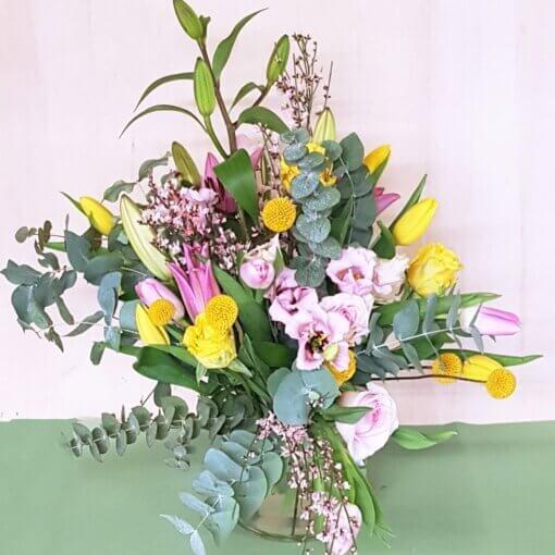Bouquet grande di fiori misti Rosa e Gialli